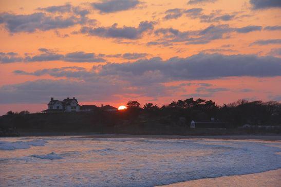 Sunset over Bailey' Beach